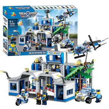 启智乐儿童积木城市警察野战部队拼装玩具3周岁以上多功能益智类