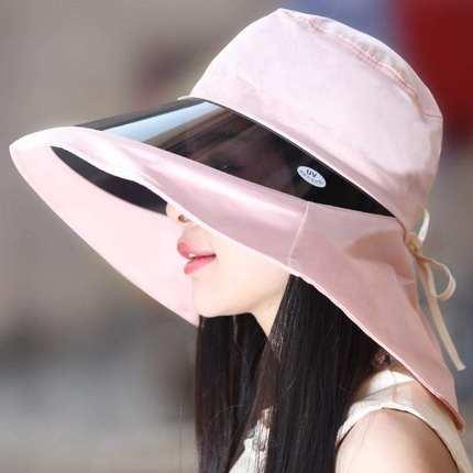 护颈女士线韩版太阳帽遮脸大沿帽子防紫外线防水防晒遮阳帽可调节