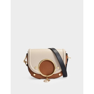 蔻依 See by Chloé Mara Crossbody Bag 米色光面皮质女包