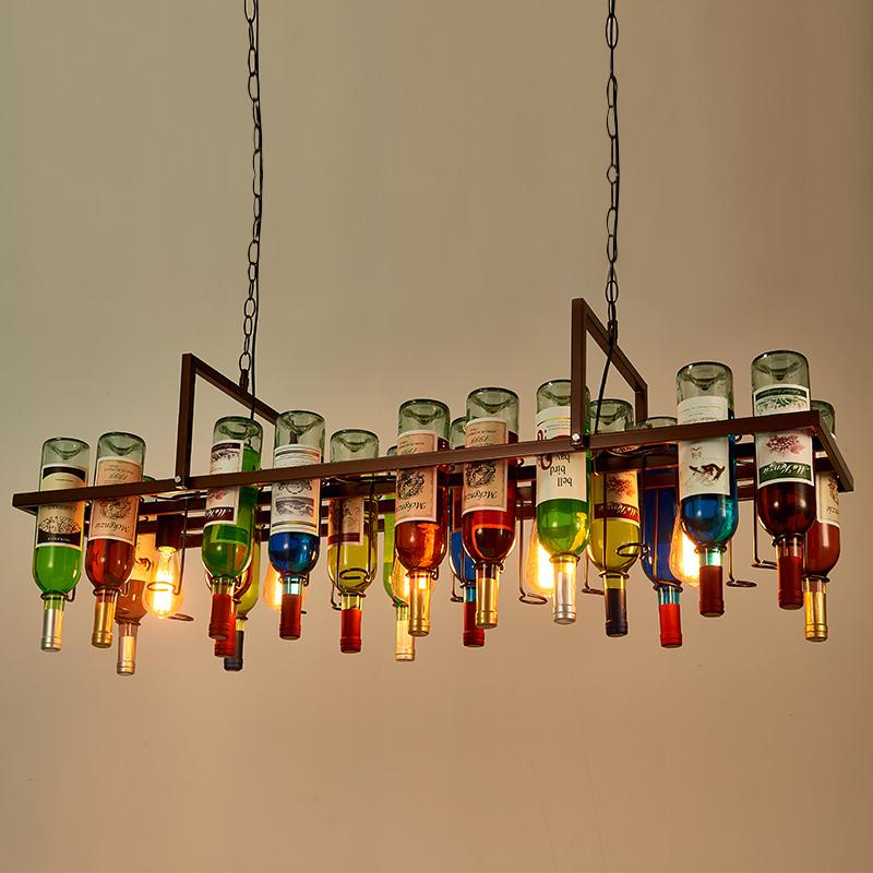 热销154件买三送一美式复古装饰灯瓶子水吧吧台吊灯