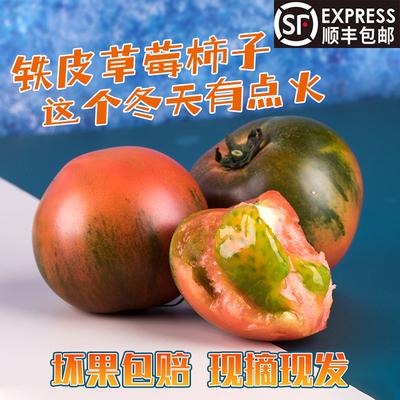 草莓柿子西红柿新鲜蔬菜生鲜水果盘锦鹰爪碱地铁皮柿子丹东番茄