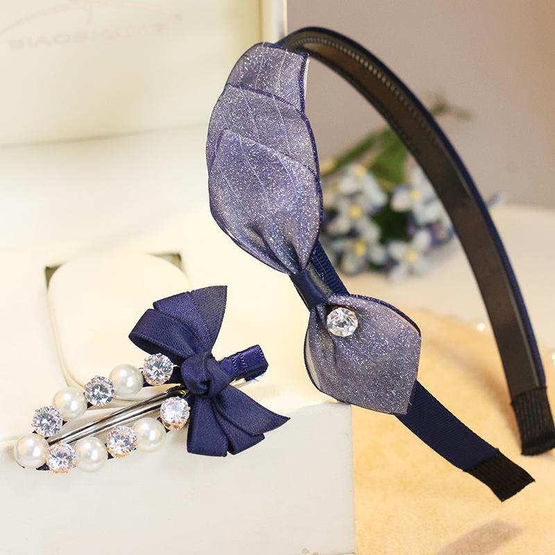 天天特价水钻发箍韩国头箍布艺蝴蝶结宽边发卡珍珠发夹边夹鸭嘴夹