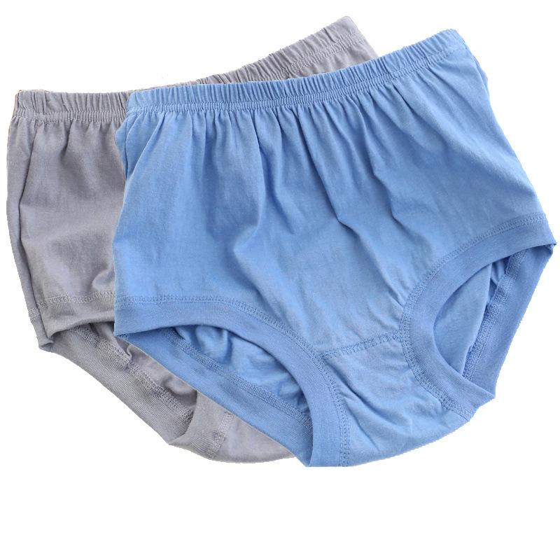 老人加肥加大中老年內褲男士大碼純棉短褲100%全棉高腰三角內褲