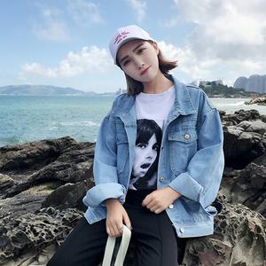 牛仔短外套女装2019春季新款韩版chic宽松百搭港风长袖学生上衣潮
