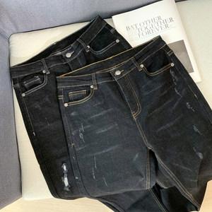 亏清福利,原218的 意大利定制弹力断码女装 棉质JEANS牛仔裤女