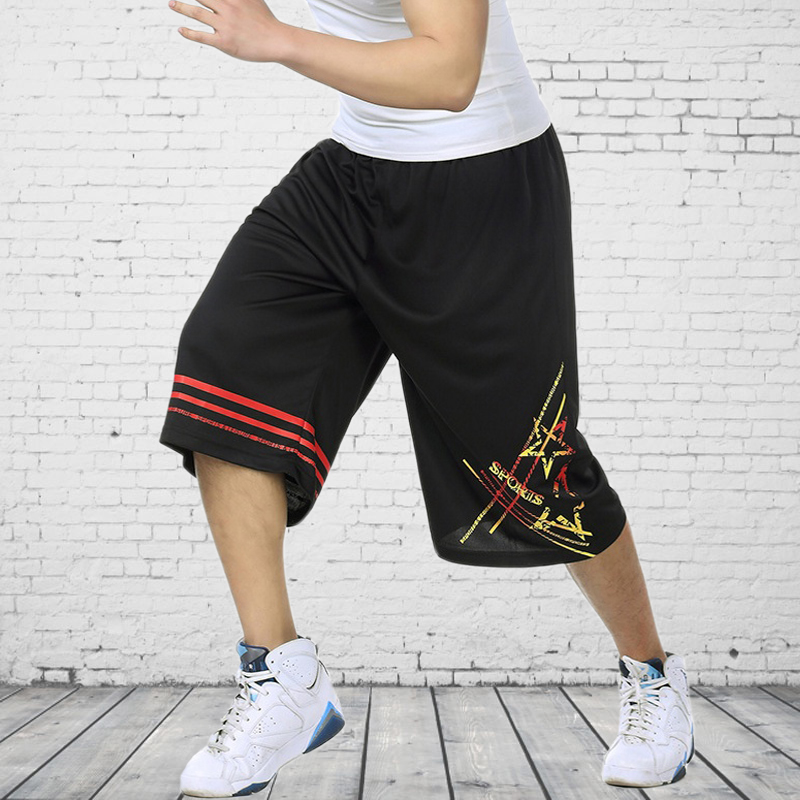 Popular street basketball pants youth sports shorts loose size mens Beach Capris pants t869