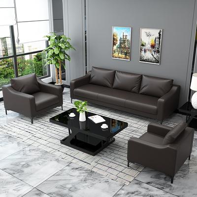 办公沙发办公室茶几组合简约现代套装洽谈会客商务接待三人位家具