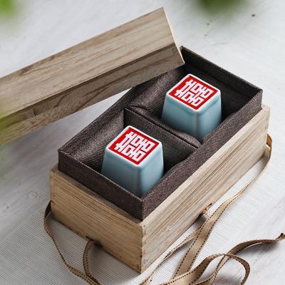 定制 手工结婚礼物创意个性实用闺蜜朋友 新婚庆送礼品陶瓷双喜杯