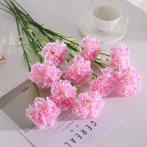 康乃馨仿真花束假花绢花干花艺家居客厅摆设餐桌摆件装饰插花塑料