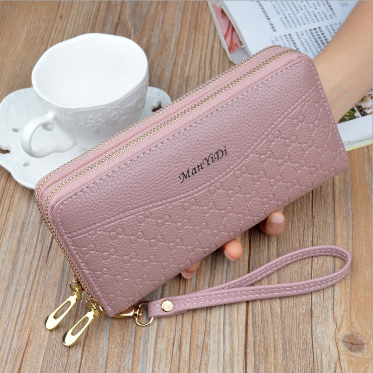 New wallet women long mobile phone bag Korean fashion multi-functional double zipper womens hand bag multi Card Wallet