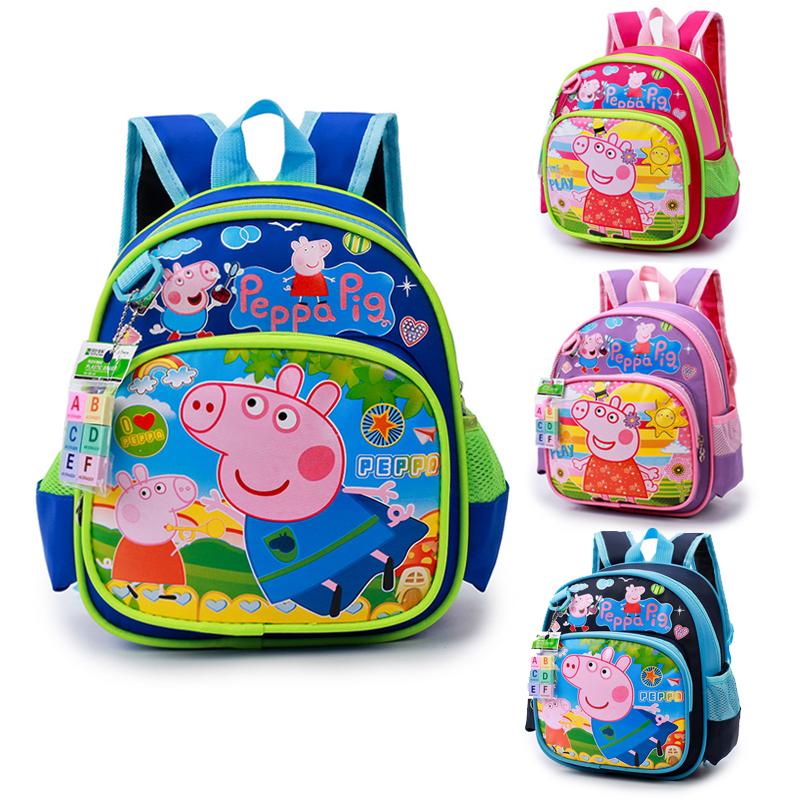 韩版卡通小猪佩奇儿童背包2-4岁幼儿园书包女男童减负帆布双肩包3