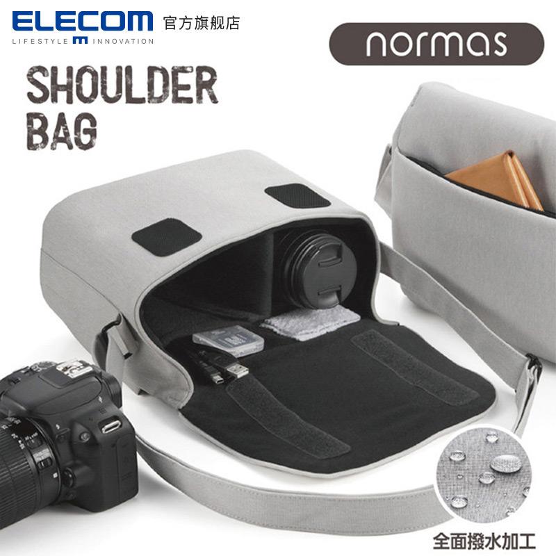 ELECOM单肩单反休闲相机包佳能尼康斜挎摄影包微单便携包DGB-S031