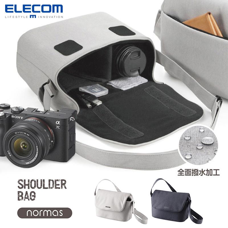 elecom日本索尼A7单反相机包单肩包单反休闲防水包佳能尼康斜挎摄影包微单便携收纳包