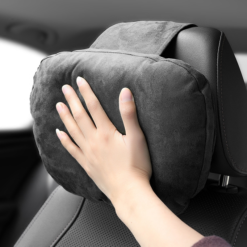 S级车载麂皮绒头枕汽车用护颈枕迈巴赫靠枕创意枕头奔驰车内用品