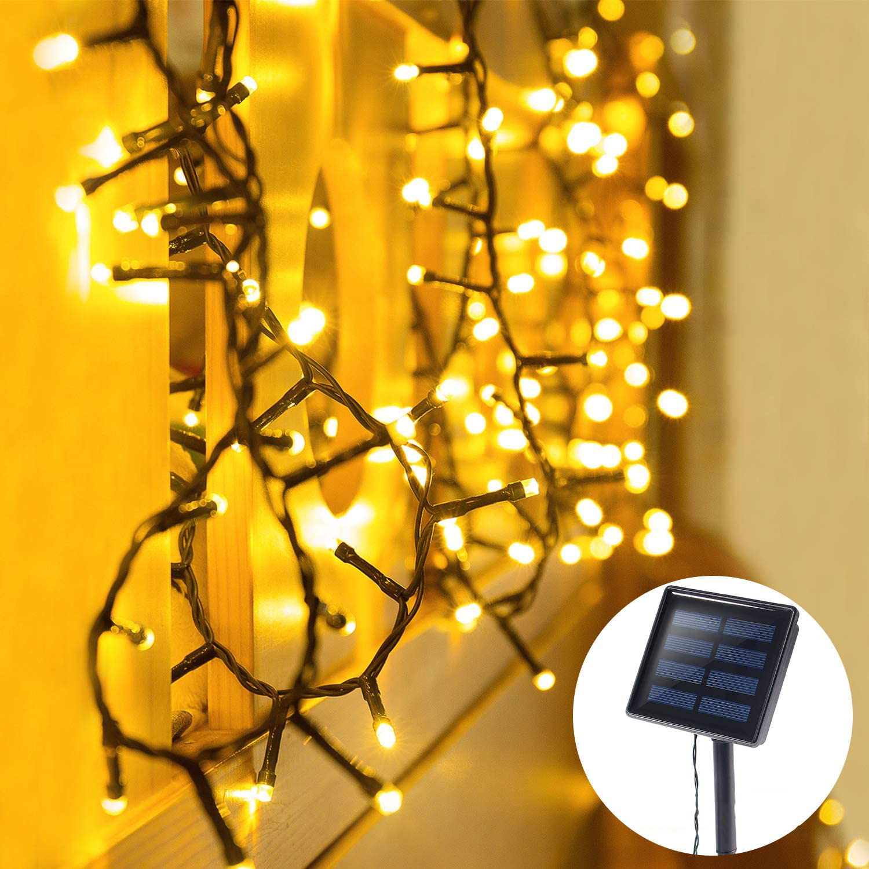 户外太阳能灯串LED彩灯防水庭院景观灯带家庭花园婚礼节日装饰灯