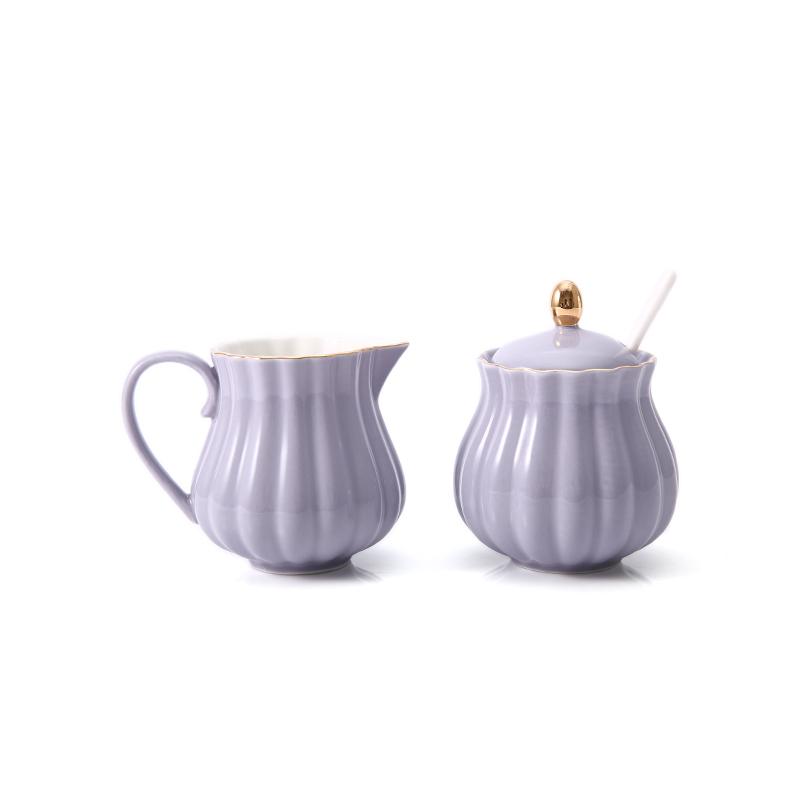 Музыка избыток большой керамика молоко горшок сахар бак установите континентальный творческий кофе оснащен небольшой набор молоко горшок сахар чашка установите бесплатная доставка