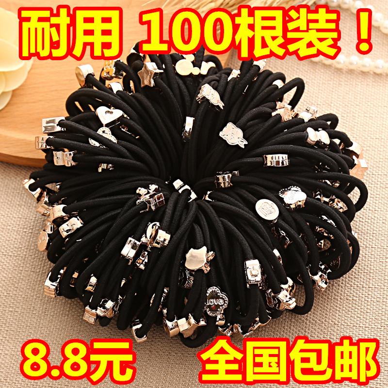皮套橡皮筋发圈韩国头绳简约黑色成人扎头发卡通蝴蝶结发绳头饰女