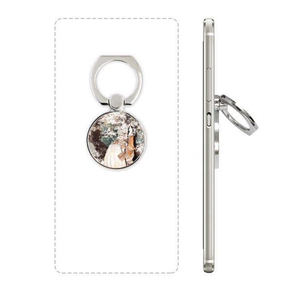 Womens ancient Chinese style illustration mobile phone bracket ring multi function stick lazy desktop support gift