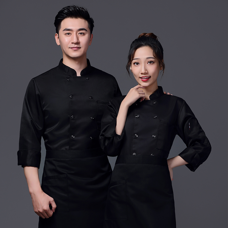Hotel pastry division work clothes cake clothes autumn and winter long sleeve chef clothes custom printed bread hamburger division uniform
