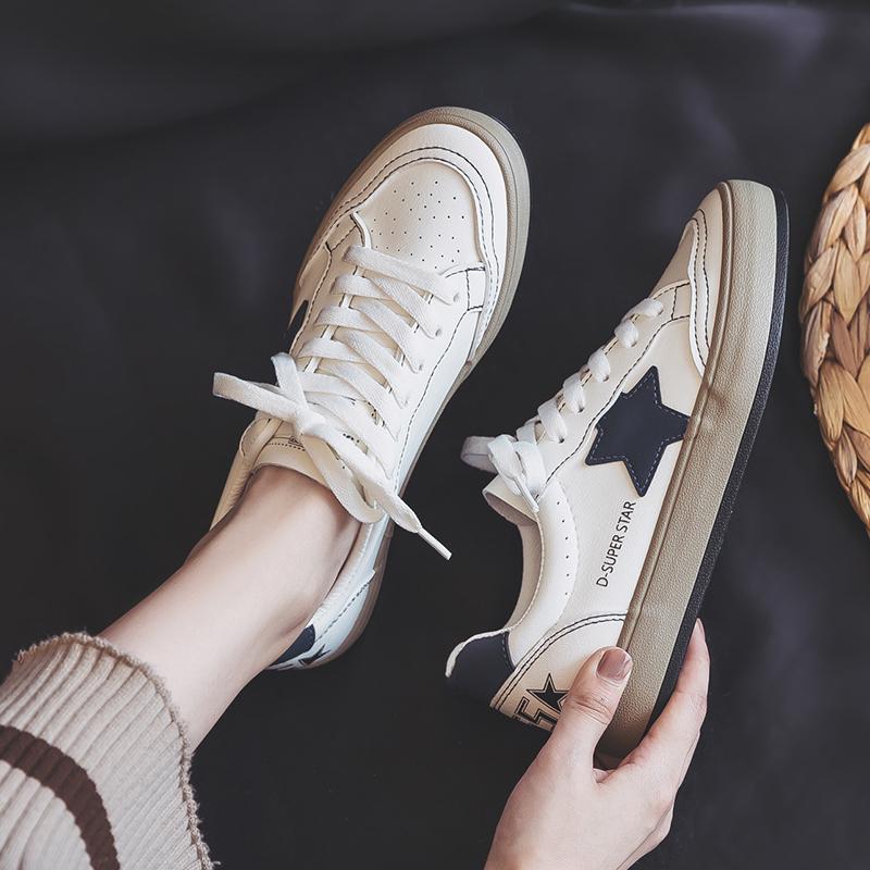 香港潮牌小白鞋女2021年春季新款百搭休闲ins运动球鞋街拍板鞋子