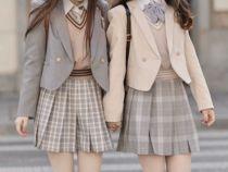 春季百搭御守兔JK原创百褶裙大码格裙双子格裙买一送一超短裙日系