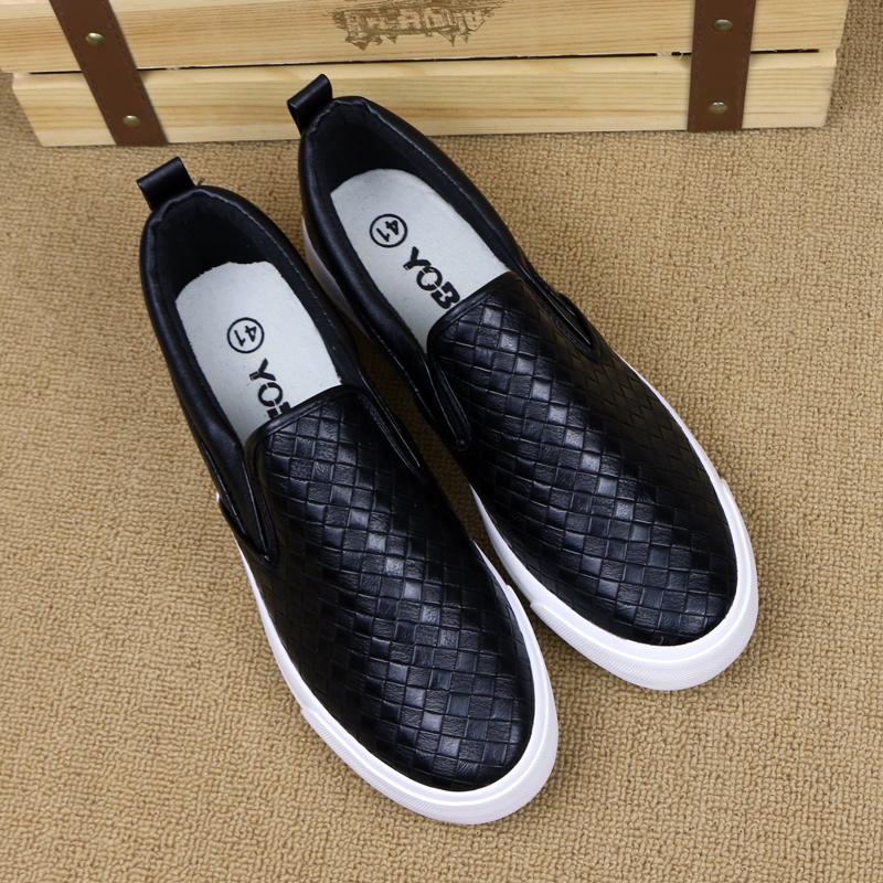 Новые Lok Fu ботинки мужчины корейской версии Джокера в осени, педаль ленивый толпа обувь Мужская повседневная обувь сотканный из Англии мужская обувь