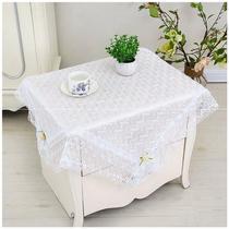 蕾丝桌布布艺茶几布简约盖布床头柜小圆桌布长方形台布白色蕾丝布