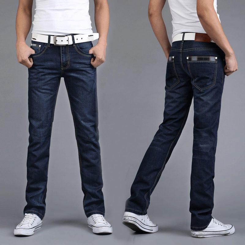 春夏季牛仔裤男宽松直筒弹力男式裤子休闲韩版修身潮流青年长裤潮