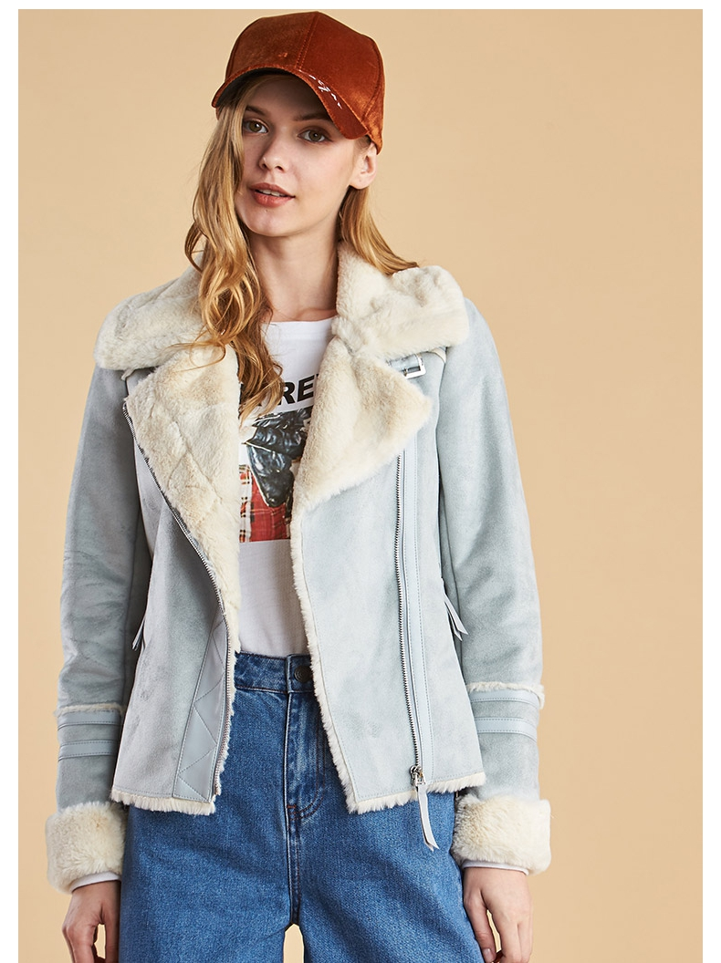 Free freight insurance in memory of egger weekend winter new suede one jacket spot special price
