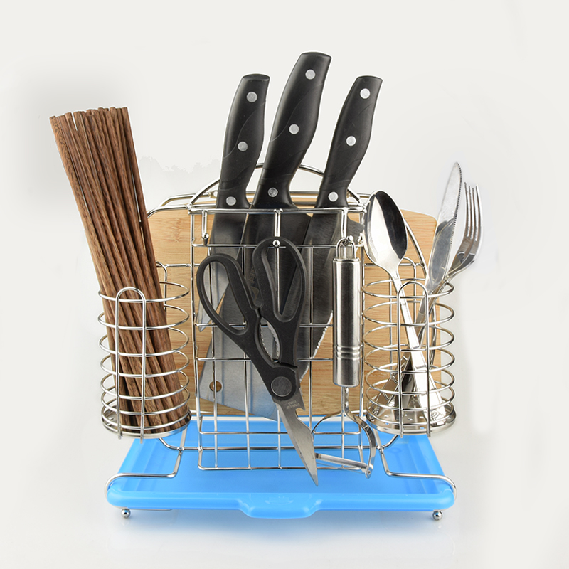 Stainless steel turret, cutter, chopping board, chopsticks, household kitchenware, multi-functional storage rack, shelf, wall hanging, parcel post
