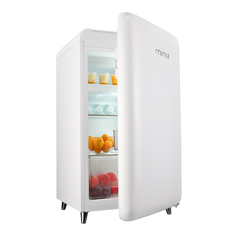 小吉MINIJ BC-121FA复古单门家用小型冰箱创意冷冻冷藏办公室冰箱