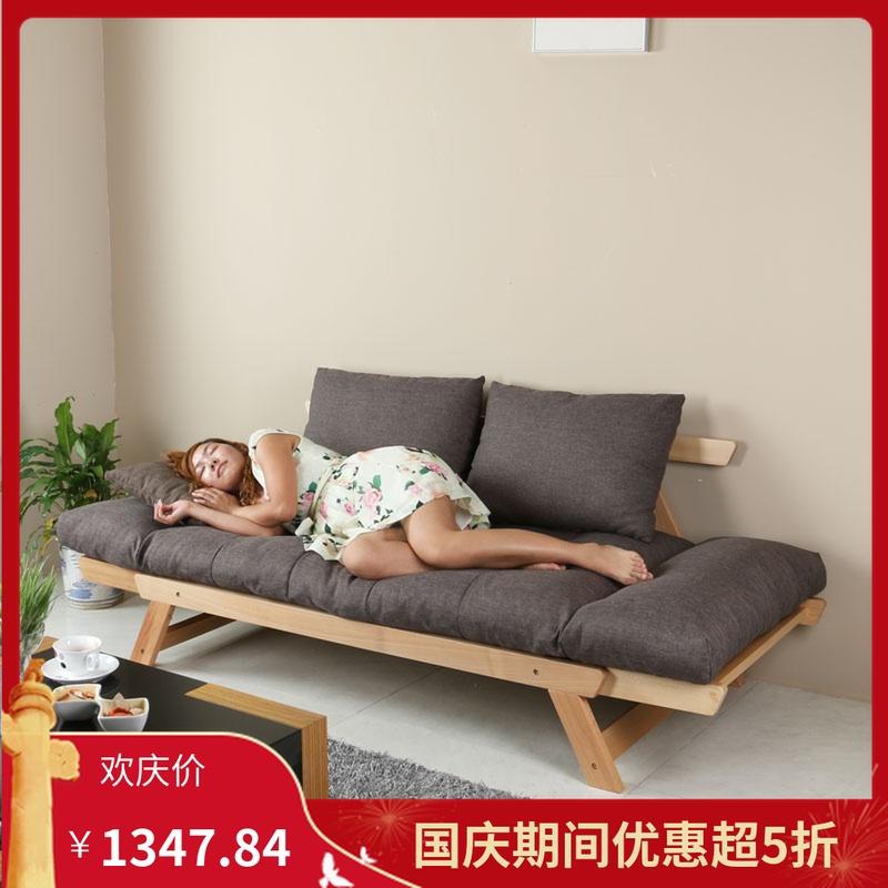 北欧日式可折叠客厅双人拆洗沙发床12月02日最新优惠