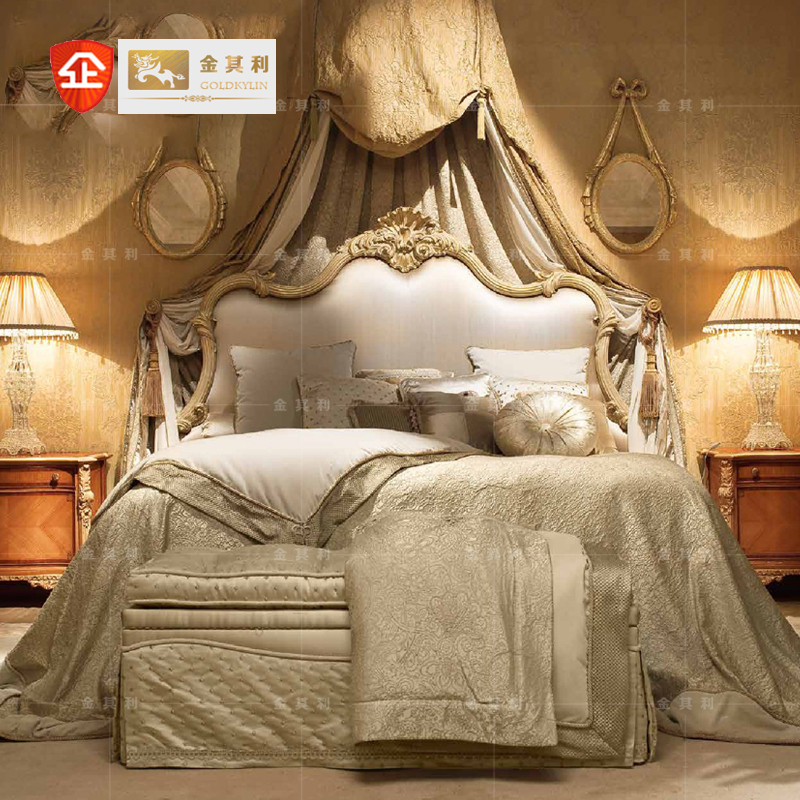 Jinqili furniture Lolita double bed villa mansion high end furniture customized new classical Italian furniture