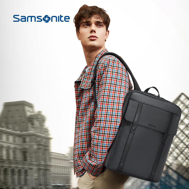 Samsonite/新秀丽背包男双肩包 商务男士旅行包时尚潮流书包TQ5图片