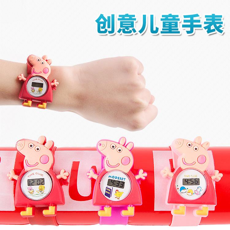 創意兒童幼兒園小學生啪啪圈電子手錶六一禮物玩具批發地攤貨源