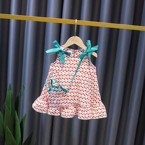 女童夏装吊带连衣裙2021年新款洋气童装宝宝公主裙夏季婴儿裙子薄