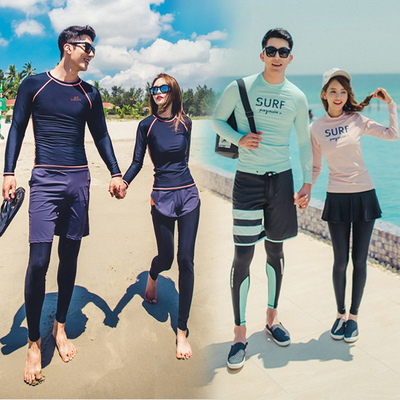 Korean split diving suit women quick-drying sunscreen jellyfish suit long-sleeved trousers swimsuit surf suit male couple suit