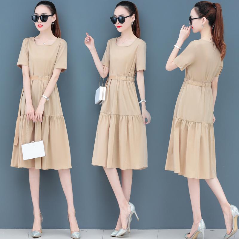 夏季連衣裙女夏裝2020年新款流行女裝時尚氣質名媛夏天輕熟風裙子