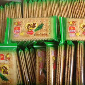 苏打饼干金麟香葱梳打1斤咸味酥脆发酵包装早餐休闲办公零食包邮