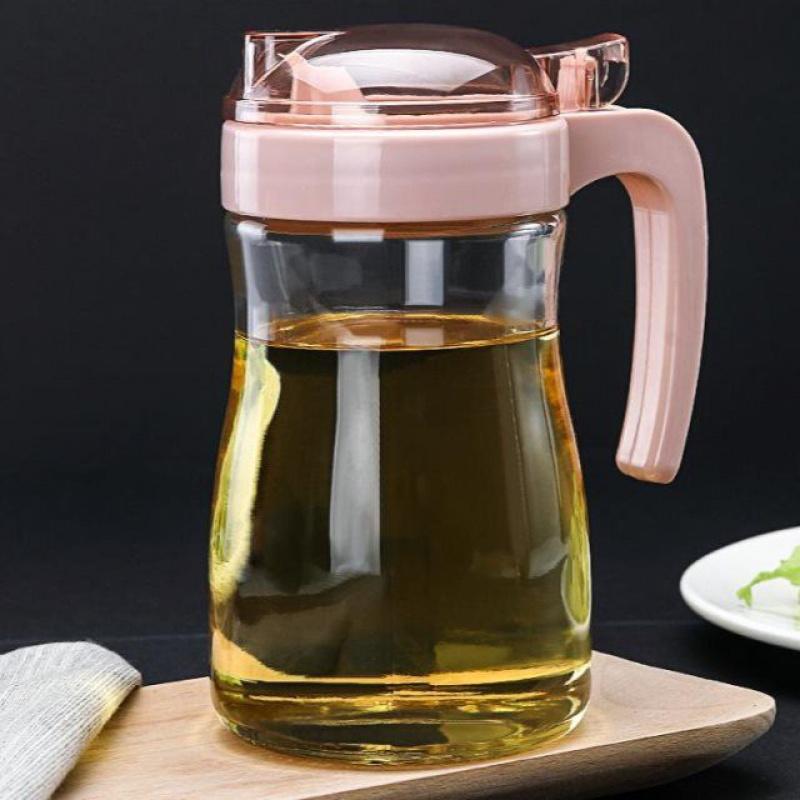 油壶玻璃家用厨房透明塑料油罐酱油瓶防漏醋壶控油瓶调料瓶香油瓶