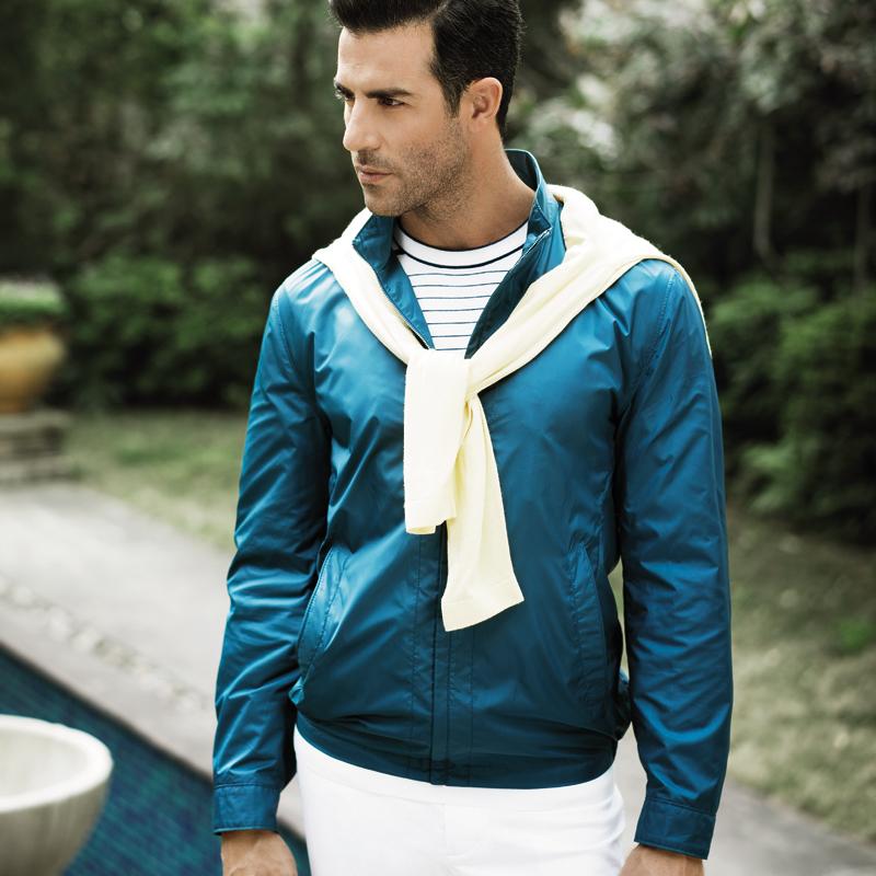 约翰费雷德立领外套男春秋款运动夹克男青年薄款外套