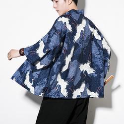 七分袖和服开衫 薄款半袖衬衣道袍 防晒衣 KS301-P45(95涤5氨纶