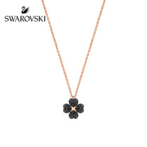 Swarovski Latisha Four leaf grass necklace female collarbone chain double-sided flower jewelry hundred matching jewelry