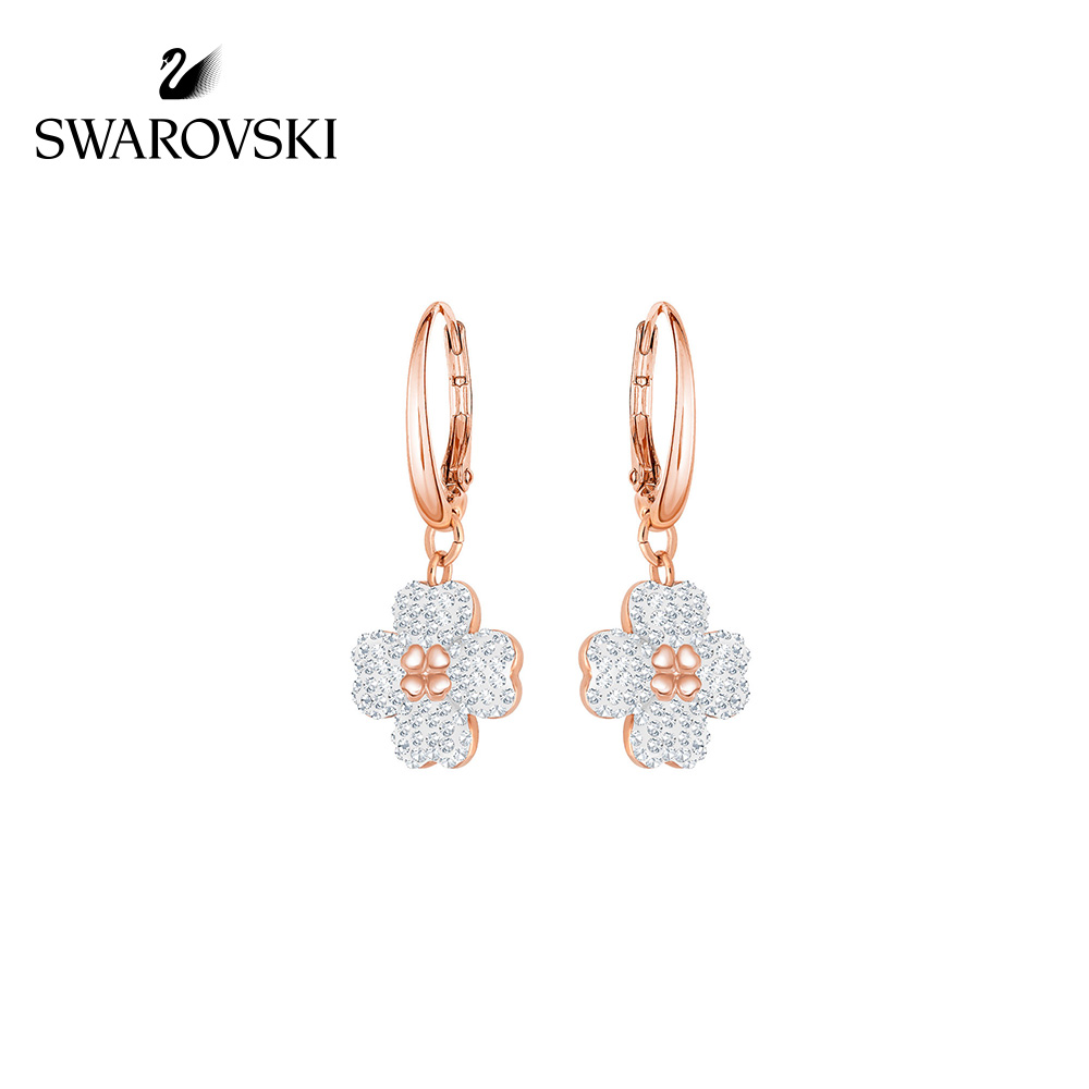 Swarovski LATISHA elegant temperament four-leaf clover flower shape earrings female earrings