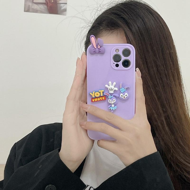 中國代購|中國批發-ibuy99|iphone 7 plus|立体紫色小兔适用12promax苹果x手机壳iphone11软xr女7/8plus/pro