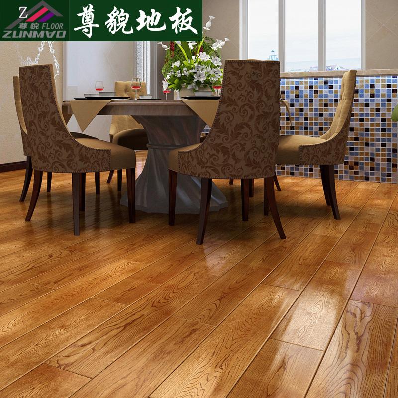 尊貌实木地板厂家直销/正宗纯实木橡木地板/仿古地板/原木地板