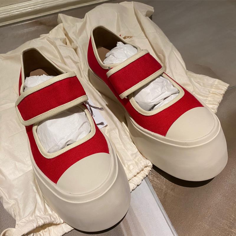 MONA同款松糕厚底玛丽珍鞋女2020新款大头胖胖凉鞋圆头增高小白鞋