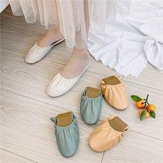 韩风 圆头松紧浅口半拖鞋女夏季包头软底舒适懒人凉拖鞋外穿女鞋