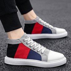潮男帆布鞋2019夏季新款韩版低帮潮流百搭透气运动平底休闲男板鞋