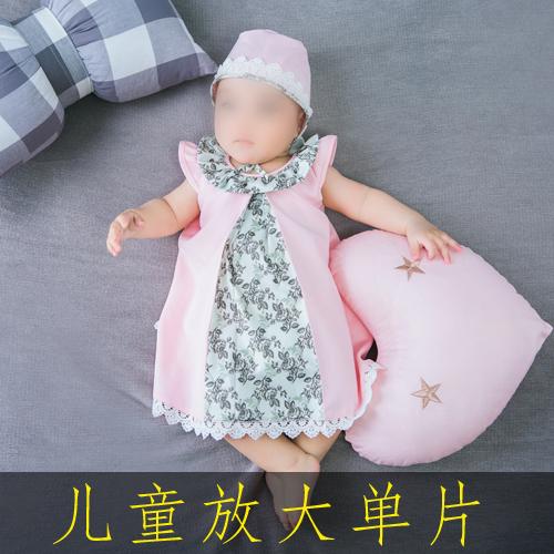 2020年新品儿童影楼韩式百天放大样片室内摄影实景周岁宝宝样照